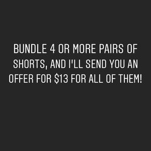 Denim shorts bundle, size 24 and 25 - do not buy!